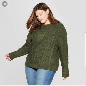 Bundle: 2 Universal Threads Cable Knit Sweaters